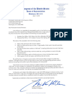 Letter to Postmaster General