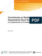 WSP LAC Convirtiendo Realidad Saneamiento Rural Sostenible Ecuador