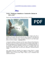 NASA Mudancas Climaticas e Catastrofes Globais de 2011 a 2017
