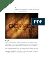 Copper Text In PS CS6