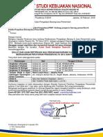 Surat Undangan Ujian Sertifikasi Umum