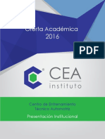 Oferta Academica CEA - Instituto CEA