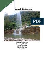 Personal Statement - Setareh Gerashi