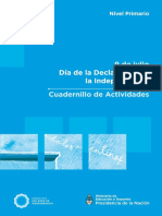 Cuadernillo Primaria. Independencia Argentina