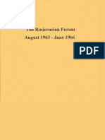 Rosicrucian Forum, August 1963 - June 1966