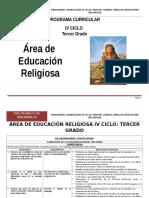 Educación Religiosa 3º Grado Rutas