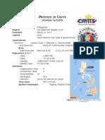 Province of Cavite Data