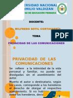 3. Privacidad de Las Comunicaciones