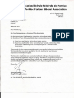 Letter of Expulsion from PLC Pontiac Board
