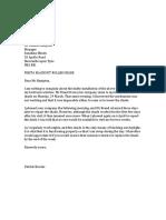 Letter of Complaint About Unsatisfactory Workmanship
