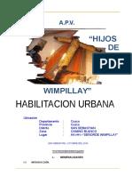 Memoria Descriptiva Aa.hh. Señor de Wimpillay1 (Autoguardado)