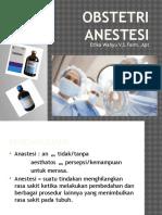Obstetri Anestesi