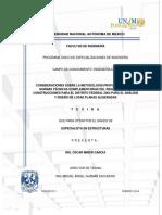 Consideraciones Sobre La Metodología Propuesta Por Las Normas Técnicas Complementarias Del Reglamento de Construcciones Para El Distrito Federal 2004 Para El Análisis y Diseño de Losas Planas Aligeradas