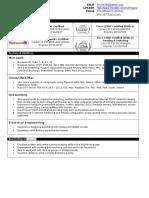 Richard Troiano - Resume - 04262016 - CCNA CCENT A+ Net+
