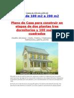 Casas de 100 m2 a 200 m2