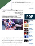 4 Reasons Behind Britain Leaving the European Union - Rediff