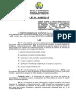 Lei 3888 - 2015 - VideoMonitoramento