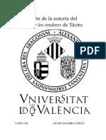 La cuestión de la autoría del Diálogo de los oradores de Tácito.docx
