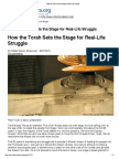 How the Torah Sets the Stage for Real-Life Struggle