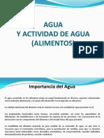 Cap i Actividad de Agua