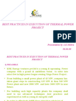 Best Practices in Execution of Thermal Power Project