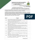 Cuestionario de Factores de Riesgo Para Conductas Disruptivas