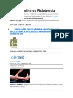 Cursos Online de Fisioterapia