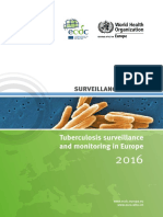 Ecdc Tuberculosis Surveillance Monitoring Europe 2016