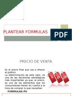 Plantear Formulas