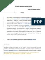 Bojorques_Construcción Del Pensamiento Estratégico Chavista.