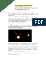 Curiosidades de La Astronomia