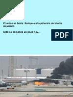 Explosion Turbina- Boeing767