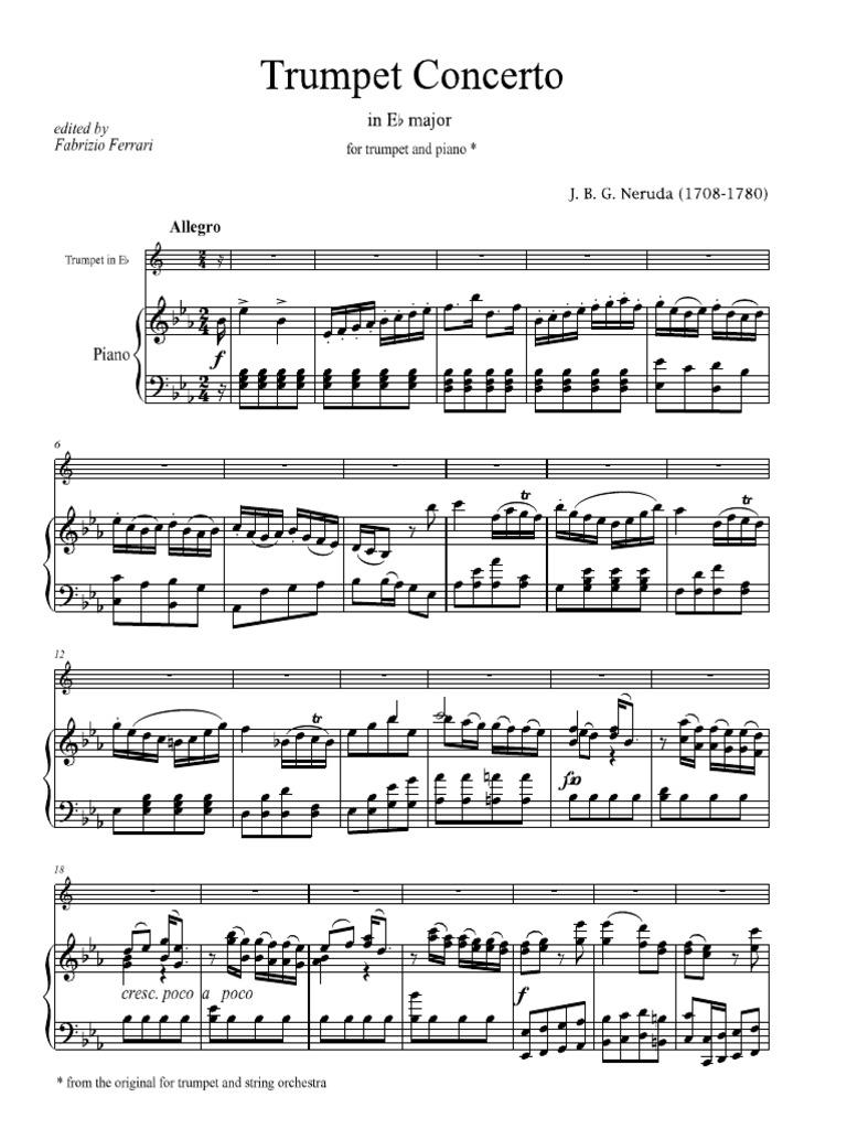 Neruda - Trumpet Concerto in E-flat pdf