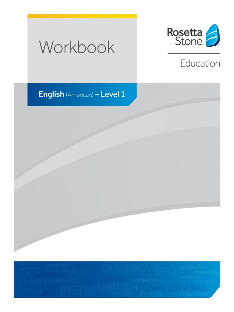 Rosetta Stone Classroom English Us Workbook Level1 English
