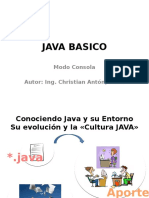 JAVA BASICO Modo Consola Introduccion