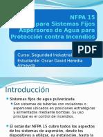 NFPA 15 Exposicion - Oscar Heredia