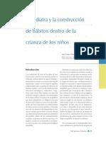 El Pediatra y La Construcción de Hábitos Dentro de La Crianza de Los Niños