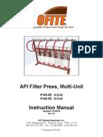 API Filter Press, Multi-Unit