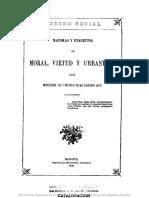 Máximas y preceptos de Mora, Virtud y Urbanidad para instrucción, uso y provecho de mis adoradas hijas