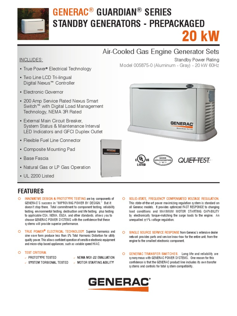 HSB20kW   Engines   Electric Generator