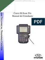 Manual Hiscan Pro Uso Partes Diagnostico Sistemas Codigos Analisis Herramientas Registro Configuracion Hyundai