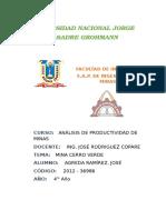 Análisis de Productividad - Mina Cerro Verde