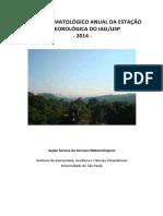 BOLETIM CLIMATOLÓGICO 2014
