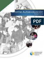 Informe de Autoevaluación Trabajo Social UCTemuco 2014