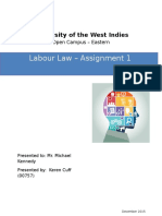 Labour Law - Assignment 1