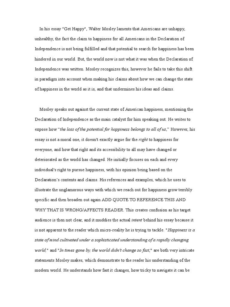 happy essay