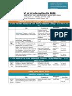 ARM Schedule 2016 Handout