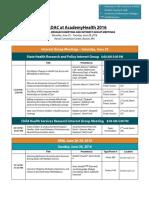 ARM Schedule 2016