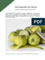 Despre Efectele Terapeutice Ale Mărului