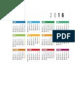 Calendario 2016 -